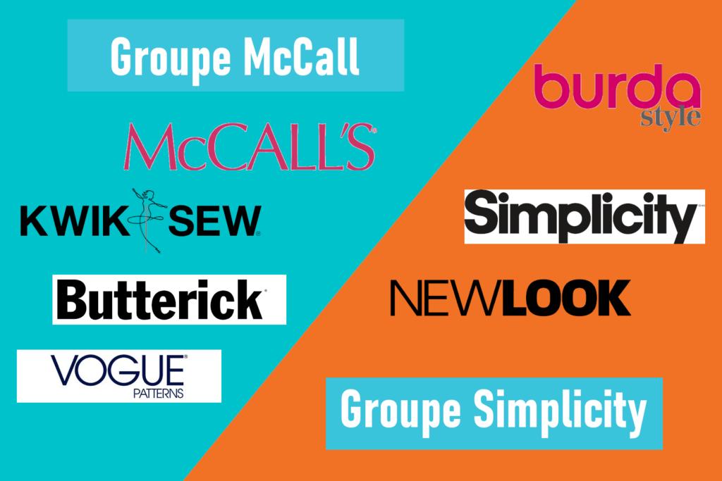 Groupes McCalls et Simplicity
